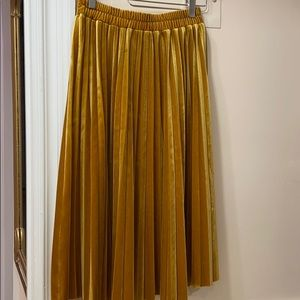 Chelsea28 Skirts - Golden Pleated Skirt